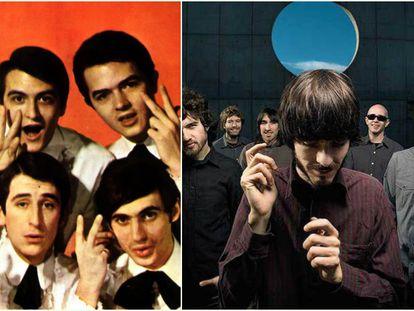 A la izquierda, Los Brincos y, a la derecha, Vetusta Morla en imágenes promocionales