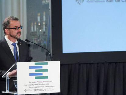 Alfred Bosch, el consejero de Acción Exterior, Relaciones Institucionales y Transparencia de la Generalitat.