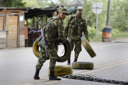 Miembros del Ejército colombiano