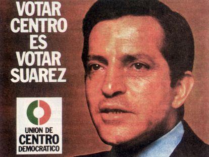 """El 15 de junio de 1977, 41 años después de las anteriores elecciones generales, celebradas durante la Segunda República, los españoles apostaron por la moderación en su regreso a las urnas tras tres años de Guerra Civil y 38 de dictadura. Adolfo Suárez aprovechó la moderación que reinaba en el ambiente en plena Transición para captar el 34,4% de los votos (más de seis millones) y proclamarse el primer presidente del Gobierno elegido libremente tras la caída de la dictadura. Su lema, """"Votar centro es votar Suárez"""", se alejaba de los extremos de ambos espectros políticos y resumía a la perfección un programa basado en la reconciliación."""
