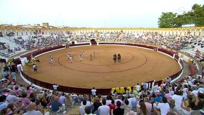 Festejo celebrado en Olivenza (Badajoz) el pasado 10 de julio.