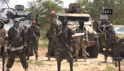 Captura de un vídeo de la secta islamista radical Boko Haram grabado el pasado julio