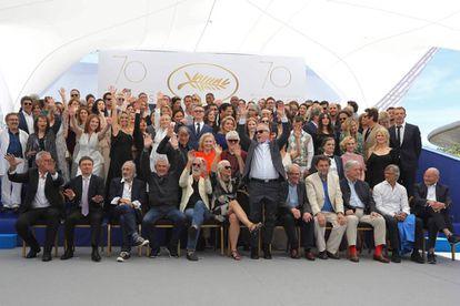 Foto oficial del 70 aniversario de Cannes.