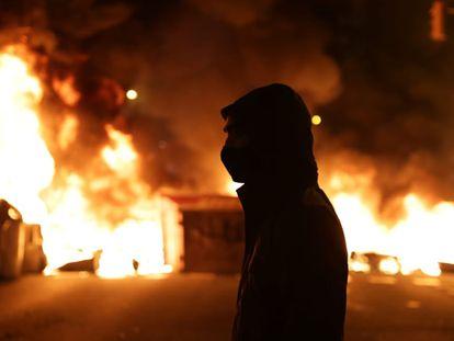 Incidentes en Barcelona en la tercera jornada de protesta por el encarcelamiento de Pablo Hasél.
