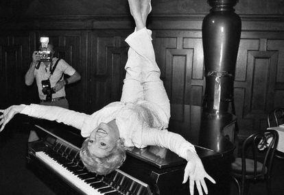 Reynolds, durante la promoción en 1982 de 'The Unsinkable Molly Brown'