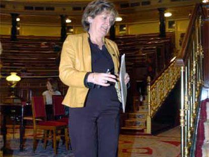 La ministra de Educación, María Jesús San Segundo, ayer en el Congreso.