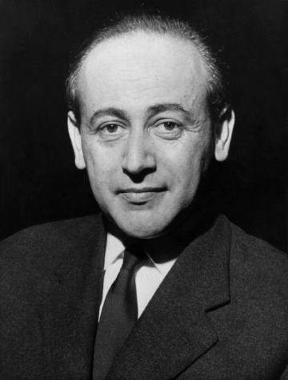 El escritor Paul Celan, en 1962.