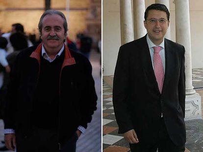 José Antonio Amate (a la izquierda) y Rafael Blanco, candidatos del PSOE por Almería y Córdoba.
