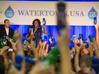 Michelle Obama, en un acto de promoción de la iniciativa 'Bebe'.