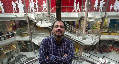 Joaquín Núñez, uno de los actores de 'Grupo 7', en Málaga.