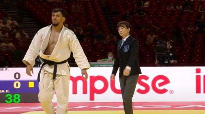 El judoca Fethi Nourine durante un combate, en una imagen de archivo.