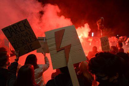 Marcha en Cracovia el pasado mes de octubre contra la ley del gobierno polaco sobre el aborto.