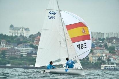Jordi Xammar y Nicolás Rodríguez, en Santander durante un entrenamiento.