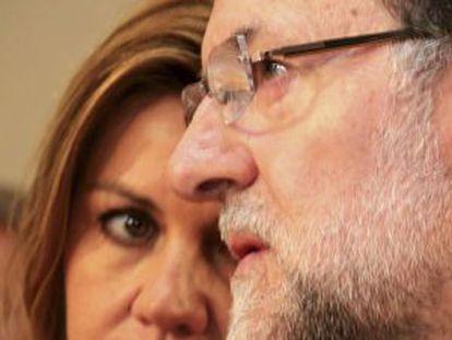 Cospedal y Rajoy, este miércoles.