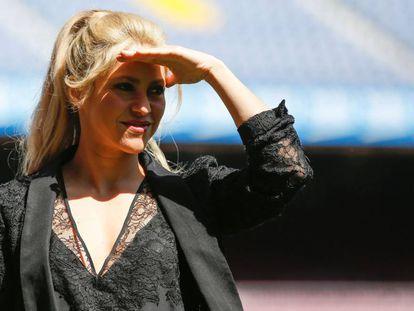 Shakira, este martes en el Camp Nou.