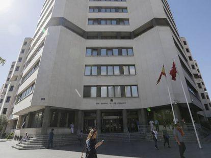 Fachada de los juzgados de la plaza de Castilla.