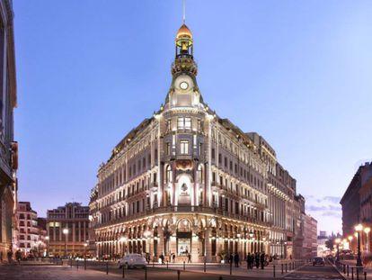 Recreación del complejo Canalejas, una de las promociones de lujo que abrirá próximamente en Madrid.