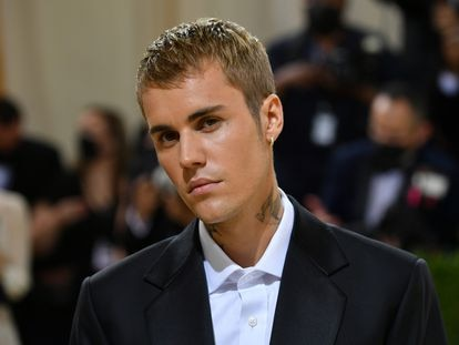 Justin Bieber en la alfombra roja de la Gala del Met 2021 celebrada en Nueva York en septiembre de 2021.