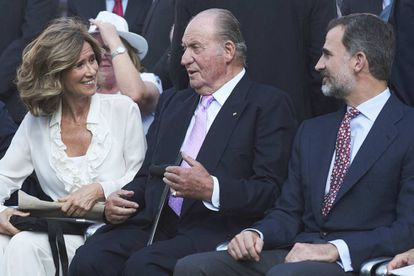 Cristina Garmendia, presidenta de Cotec, junto con el rey Juan Carlos y el rey Felipe VI.