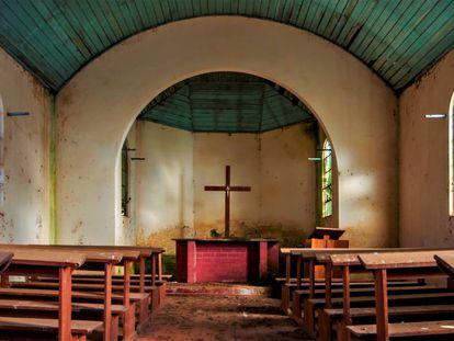 Unas iglesia abandonada en Rio Grande do Sul (Brasil).