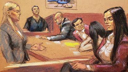 Dámaso López testificando en el juicio contra Joaquín Guzmán