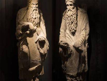 Abraham (o, según otros autores, Jeremías) e Isaac (o Ezequiel), labradas en granito en torno a 1188.