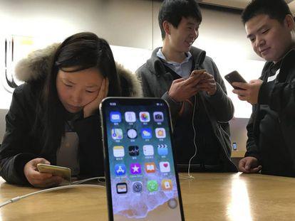 Una tienda de Apple en China.