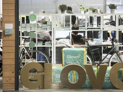Oficinas de la startup barcelonesa, Glovo.
