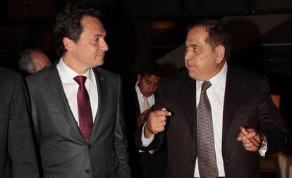 Emilio Lozoya, exdirector de Petróleos de México, y Alonso Ancira, dirigente de la acerera Altos Hornos.
