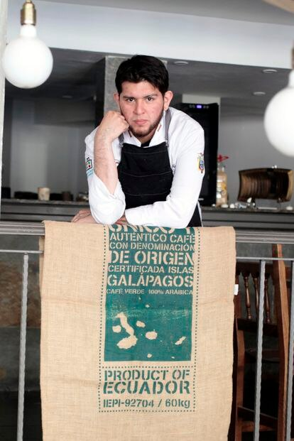 Miguel Ángel Méndez en el interior de Ayawaskha