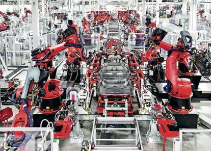 Fabrica de Tesla en Fremont (California).