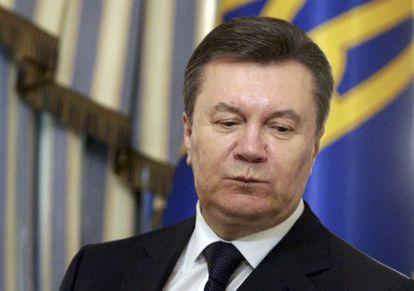 Viktor Yanukóvich el pasado 21 de febrero.