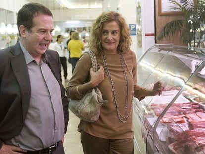 La presidenta de la Diputación de Pontevedra Carmela Silva y el alcalde de Vigo Abel Caballero.