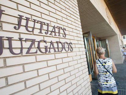 La entrada de la Ciudad de la Justicia de Castellón.
