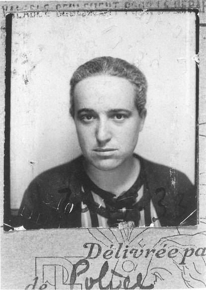 Dora Benjamin, documento de identidad francés, 1933.