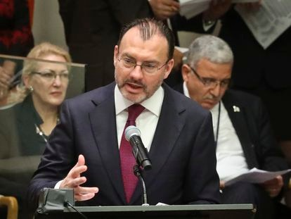 El excanciller mexicano, Luis Videgaray, en una acto en Naciones Unidas.