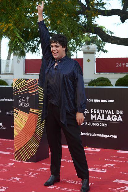 Carlos Gonzalez en el estreno de 'Con Quien Viajas' en Málaga en 2021.