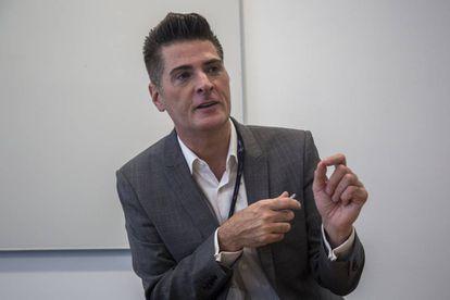 Anthony Salcito, vicepresidente de Educación de Microsoft, durante la entrevista en Ciudad de México.