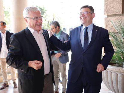 El presidente de la Generalitat, Ximo Puig, y el alcalde de Valencia, Joan Ribó.