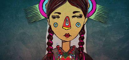 Imagen del cuento 'Cuando muere una lengua', basado en el poema de Miguel León-Portilla.
