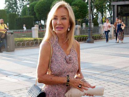 Carmen Lomana acude a un evento en Madrid, el pasado septiembre.