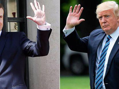 Emmanuel Macron (izquierda) y Donald Trump.