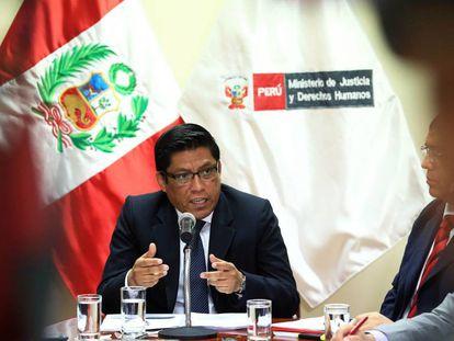 El ministro peruano de Justicia, Vicente Zeballos.