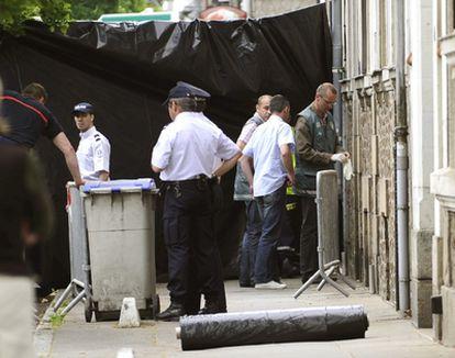 La policía investiga en el domicilio de la familia de Nantes.