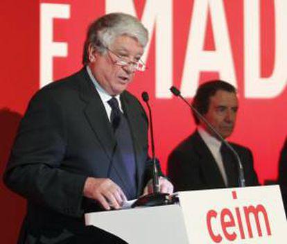 El presidente de la patronal empresarial madrileña CEIM y vicepresidente de la CEOE, Arturo Fernández. EFE/Archivo