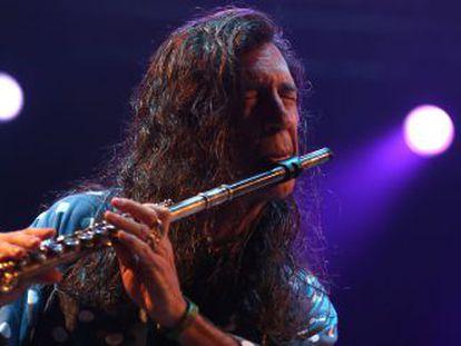 Jorge Pardo, durante un recital en 2013.