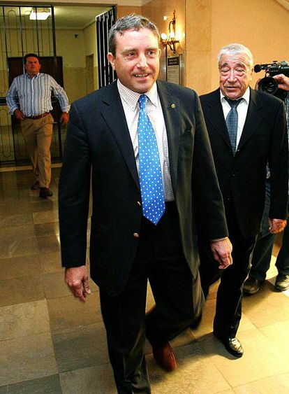 Manuel Vilanova, alcalde de Vila-real, en la primera sesión del juicio.