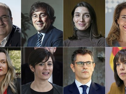 Miquel Iceta, José Manuel Albares, Pilar Llop, Raquel Sánchez, Pilar Alegría, Isabel Rodríguez, Félix Bolaños y Diana Morant.