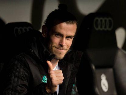 Bale, sonriente, el pasado martes antes de volver a pisar el césped en el partido contra el Fuenlabrada.