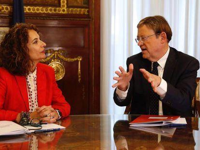 Montero y Puig en Hacienda. En vídeo, las declaraciones de Puig tras la reunión.